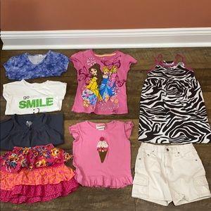 Girls Size 5 Summer Clothing Bundle